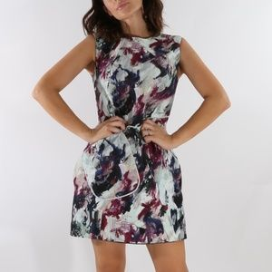 CARVEN Painted Multicolor Sleeveless Mini Dress